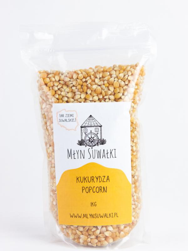 Kukurydza ziarno POPCORN do prażenia BEZ SOLI 1kg