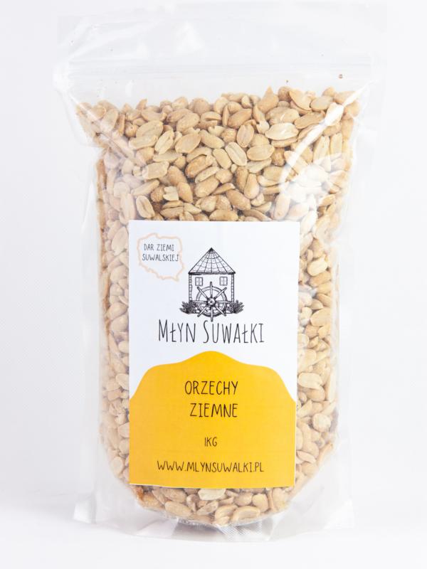 ORZECHY ZIEMNE arachidowe prażone BEZ SOLI 1kg