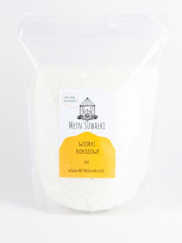WIÓRKI KOKOSOWE medium naturalne ŚWIEŻE 1kg